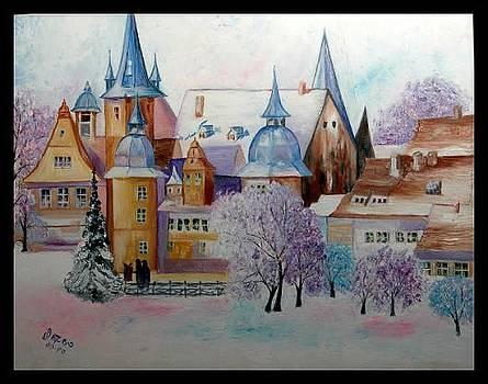 Snow fall by Usha Rai