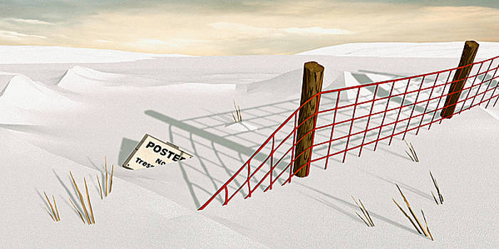 Snow Fence by Peter J Sucy