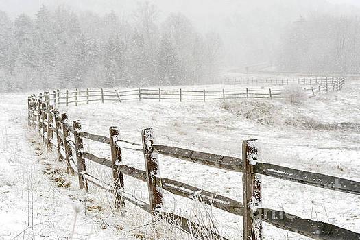 Snow Highland Scenic Highway by Thomas R Fletcher