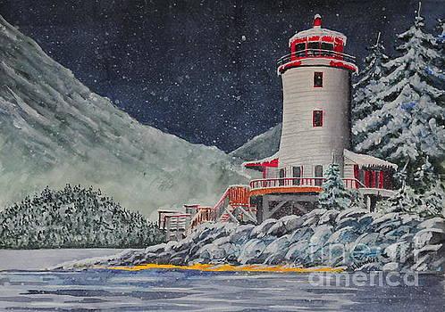 Snow on Sitka Sound by John W Walker