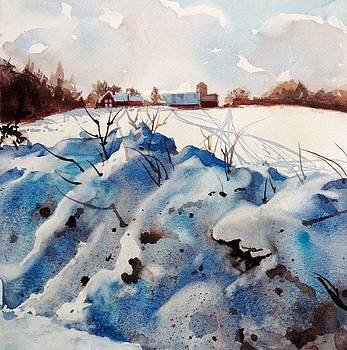 Snow on Southwick I by Elizabeth Carr