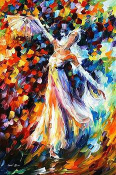 Snow Queen - PALETTE KNIFE Oil Painting On Canvas By Leonid Afremov by Leonid Afremov