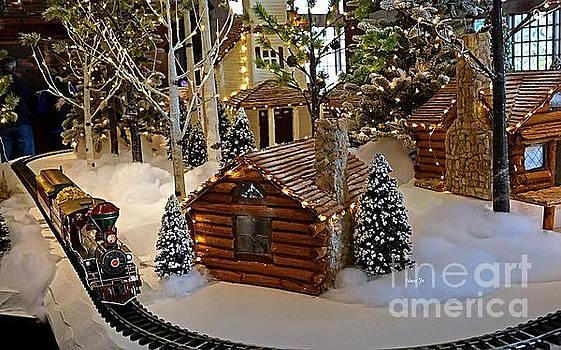 Snow Scene With Train by Nava Thompson