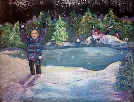 Snowball Fight by Sandra McClure