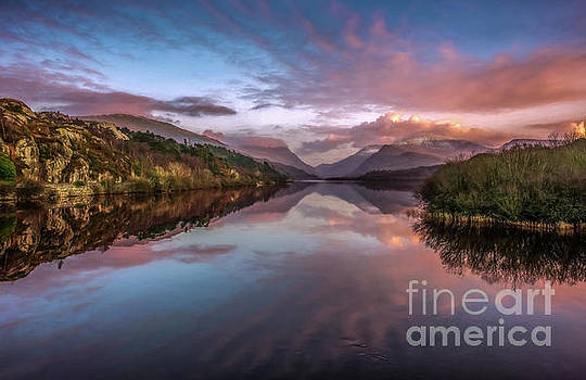 Snowdon Sunset by Adrian Evans