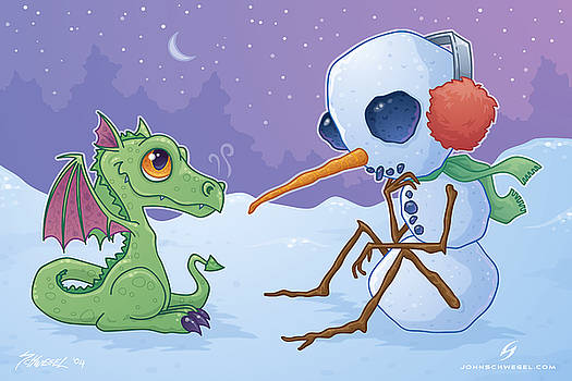 Snowman and Dragon by John Schwegel