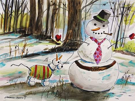 Snowman and Snowdog by John Williams