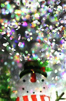Snowman Midnight Party by Karen Adams