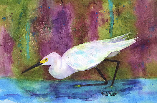 Snowy Egret Stalker by Renee Chastant