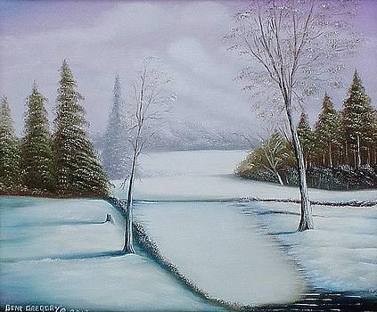 Snowy field by Gene Gregory