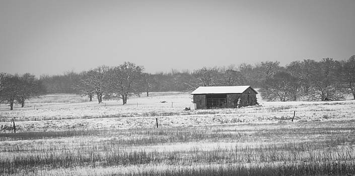 Snowy House on the Prairie by Nathan Hillis