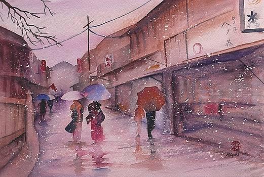 Snowy Kyoto Day by Kelly Miyuki Kimura
