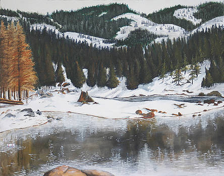 Snowy Lake by Travis Day