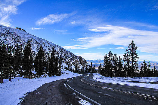 Snowy Mountain Road 2 by Angela Moreau