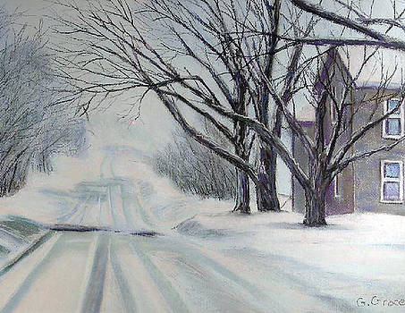 Snowy Road by George Grace