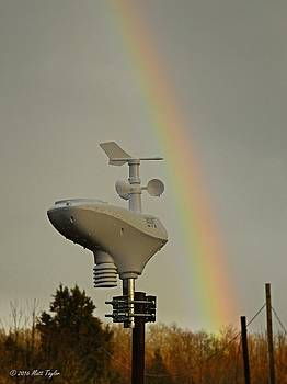 Soaked Weather Station And Rainbow by Matt Taylor