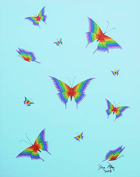 Social Butterflies by Doug Miller