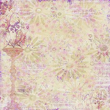 Soft Elegant Floral Pattern Peachy Mauve Design by Megan Duncanson by Megan Duncanson
