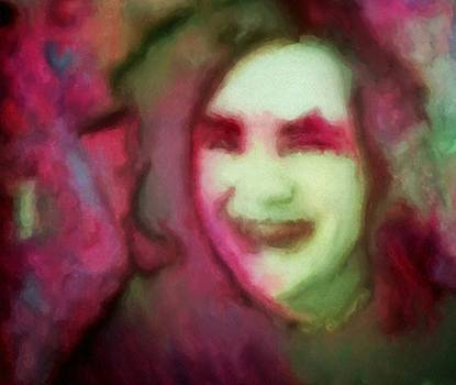 Soft female portrait painting of a girl Eve in pink green red and brown from girl in final fantasy four video games concept art by MendyZ