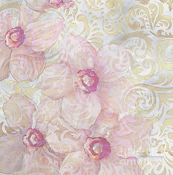Soft Floral Gold Pattern Design Sophisticated Elegance by Megan Duncanson by Megan Duncanson