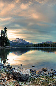 Soft Pink Sky Over Sparks Lake by Tyra OBryant