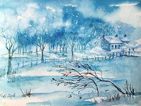 Softly Falling Woodland Snow by Trudi Doyle