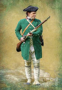 Randy Steele - Soldier with Musket American Revolution