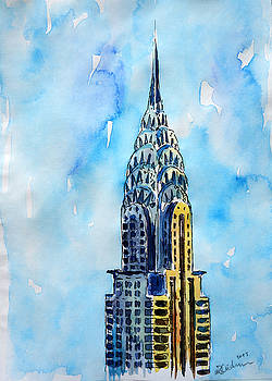 Solitary View of Chrysler Building New York City by M Bleichner