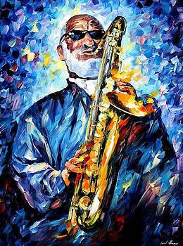 Sonny Rollins - PALETTE KNIFE Oil Painting On Canvas By Leonid Afremov by Leonid Afremov