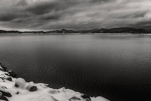 South Holston Snow BandW by Jonathan Grim