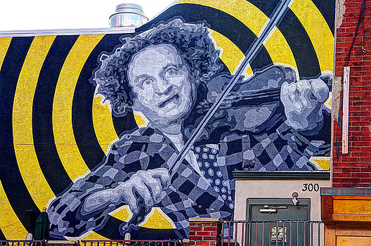 South Philly Skyline - Larry Fine of the Three Stooges Wall Mural-B - Third and South Streets by Michael Mazaika
