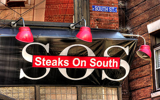 South Philly Skyline - Steaks on South-1 - Between Orianna and Third in South Philadelphia by Michael Mazaika