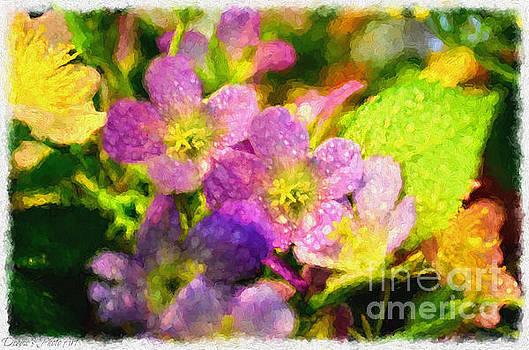 Southern Missouri Wildflowers - Digital Paint  by Debbie Portwood