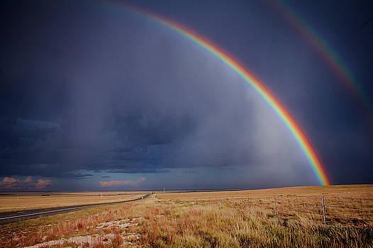 Southwest Double Rainbow by Steven Bateson
