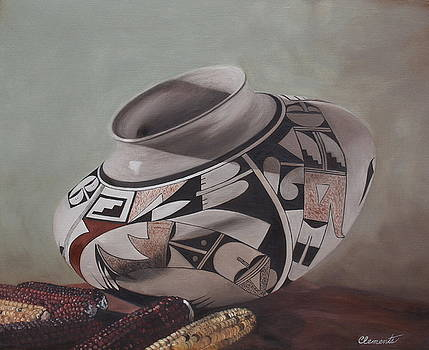 Southwest Indian pot by Barbara Barber