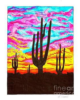 Southwestern Sunset by Karen Sirard