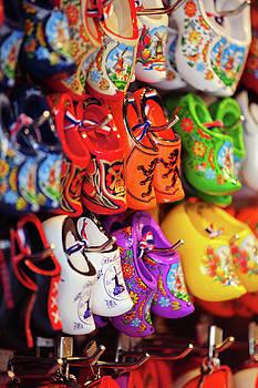 Souvenir Shop with Dutch Wooden Shoes by Jenny Rainbow