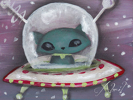 Space Cat Alien by Abril Andrade Griffith