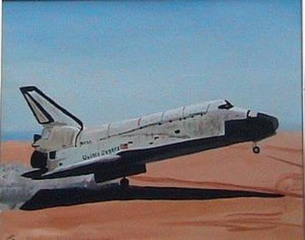 Space shuttle Columbia by Eddy Collins