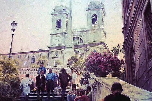 Cindy Boyd - Spanish Steps in Rome 1971
