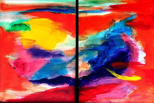 Spawn a diptych by Anne Trotter Hodge