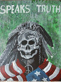 Speaks Truth - holy man - Sans Arcs Sioux by G Oktober