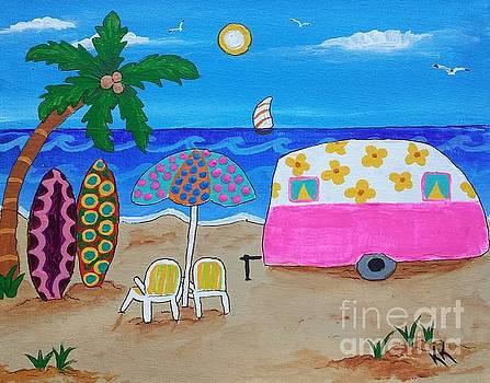 Spending Time on the Beach by Karleen Kareem