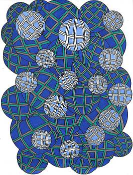 Spheres in Blue by Roberta Dunn