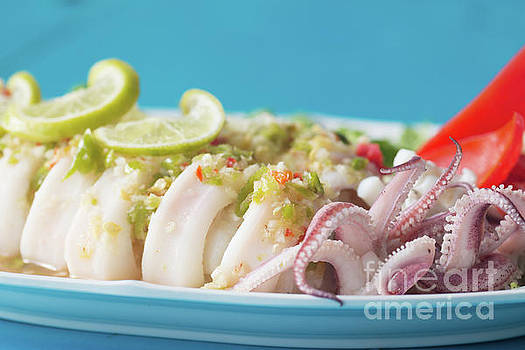 Spicy food, Steamed Squid by Atiketta Sangasaeng