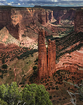 Spider Rock Canyon De Chelly by David Marr