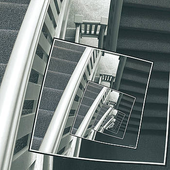 Spinning Carpeted Stairwell by Phil Perkins