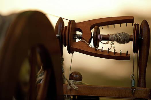 Spinning Weel at Morning by Walt Stoneburner
