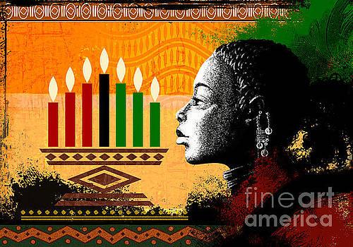 Spirit Of Kwanzaa by Bedros Awak