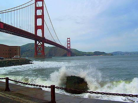 Splash at the Golden Gate Bridge by Maria Mills